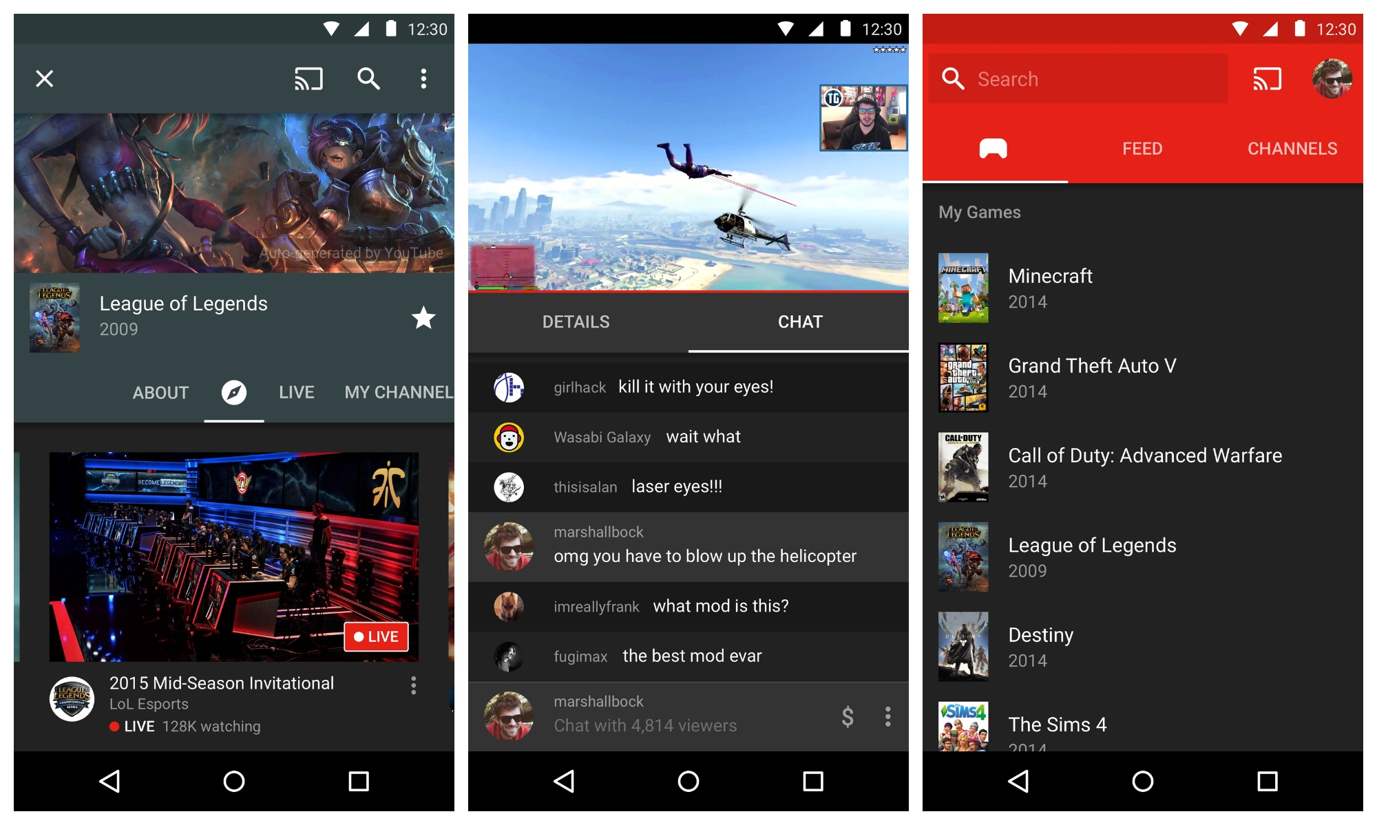 YouTube-Gaming-Android-screen-shots